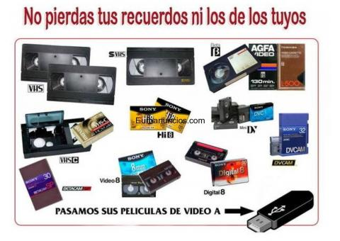 Pasamos tus cintas de video a pendrive